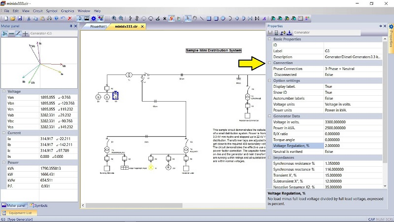 PowerNet Circuits Screen shot